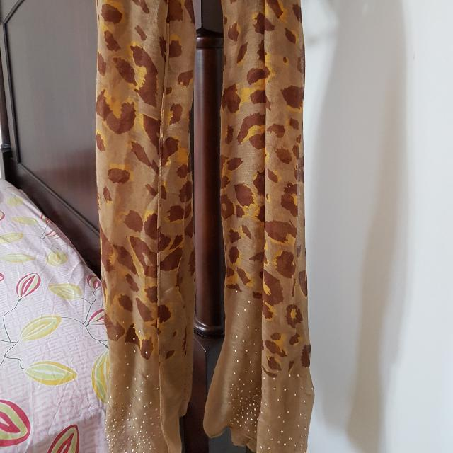 Long Tiger Primt Scarf