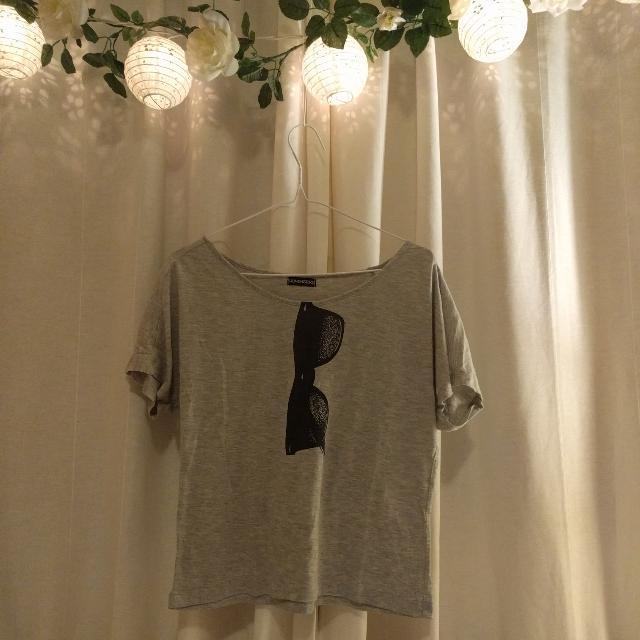 M Grey Printed T-shirt