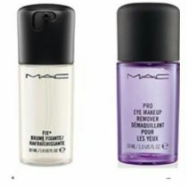 MAC fix+ and Eye Makeup Remover