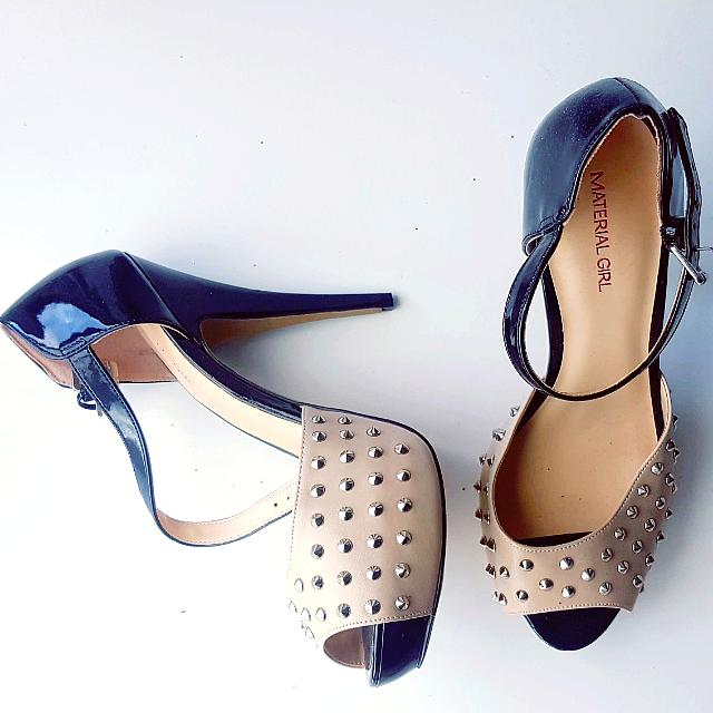 Size 9 Madonna Material Girl Studded Heels