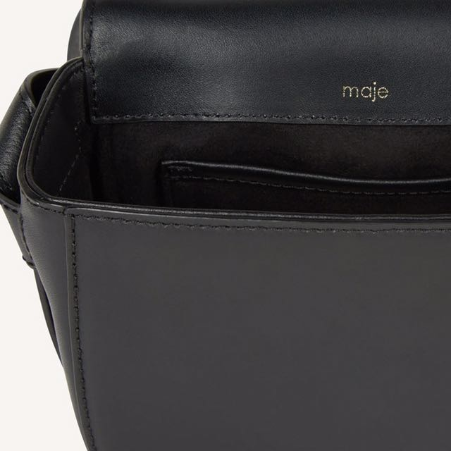 Maje Leopard Print Shoulder Bag/crossbody
