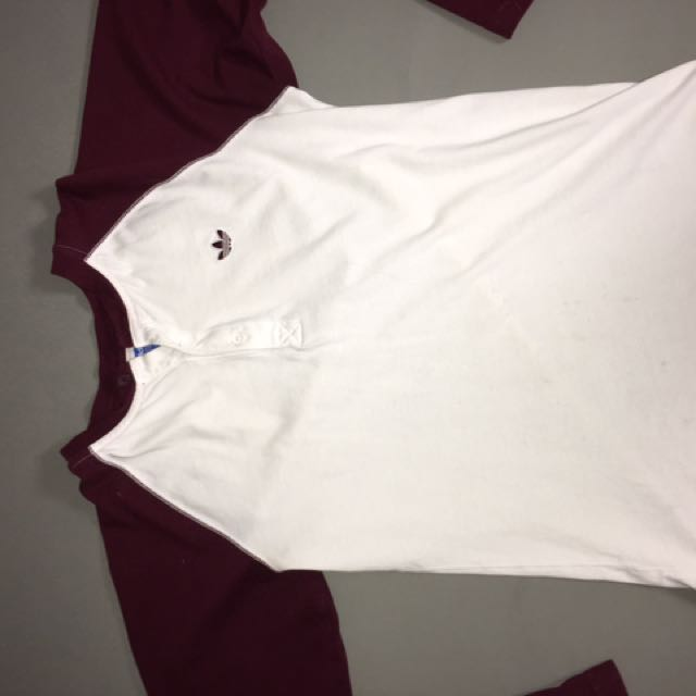Maroon Long Sleeve Adidas Shirt