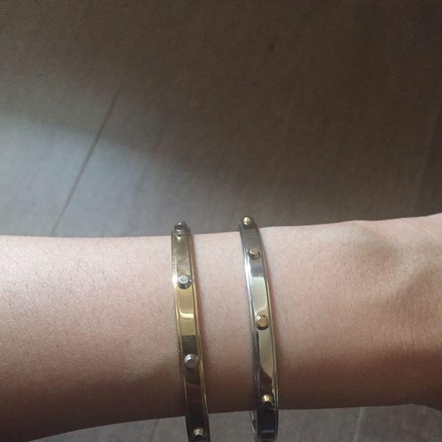 Michael Kors Two Tone Open Cuff Bracelet