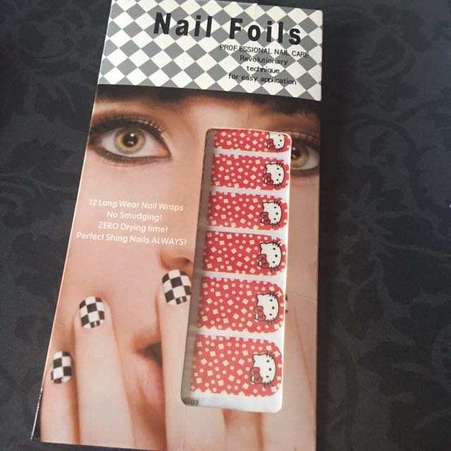 Nail art sticker do it yourself brand new sealed hello kitty red for photo photo photo photo photo solutioingenieria Image collections