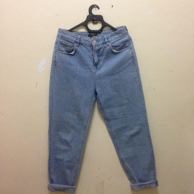 (NEGO) Pull&Bear High Waist Boyfriend Vintage Jeans