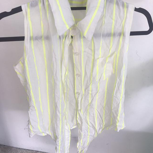 Neon Stripes Tie Top