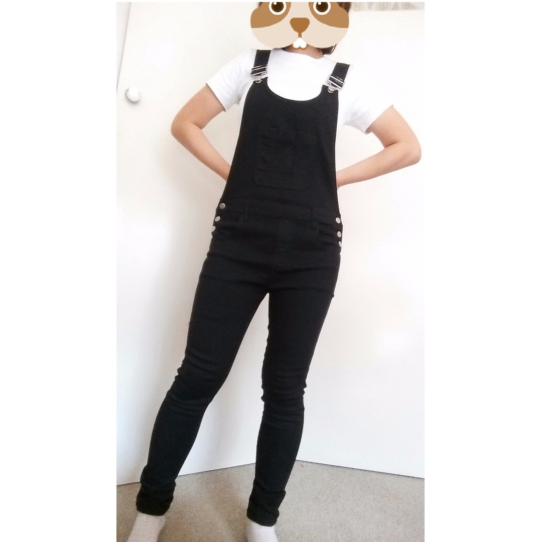 NEW BLACK OVERALL JUMPSUIT jeans
