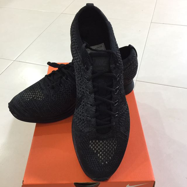 a7b1f9dfa9f1 SALE!! Nike Flyknit Racer Triple Black Midnight US 9