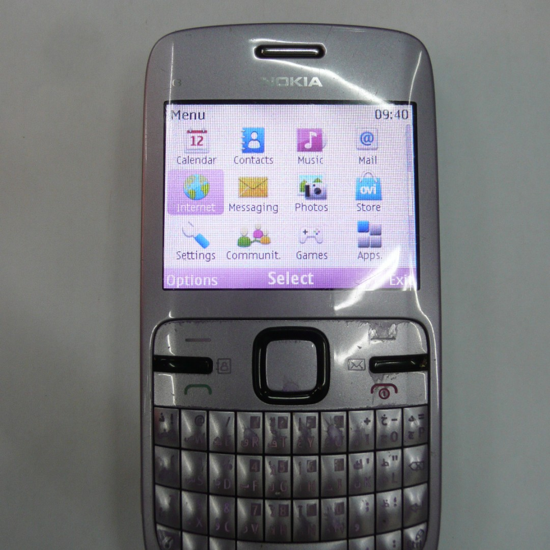 Nokia C3 00 2g Lilac Light Purple Wifi Mobile Handphone Hp Phone
