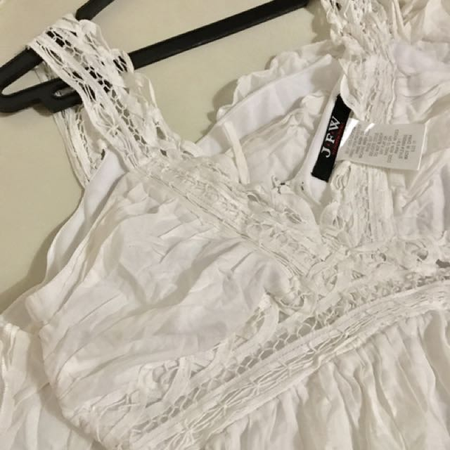 Off white Knee Lenght A-line Dress