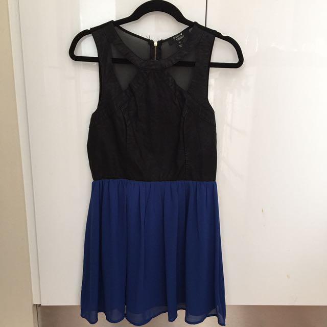 Paper Heart Blue And Black Mini dress