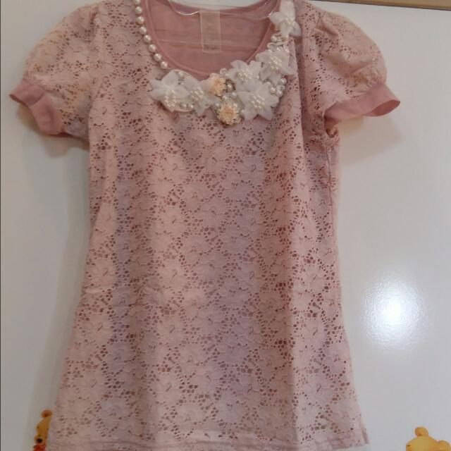 Pastel Lace Flower Shirt