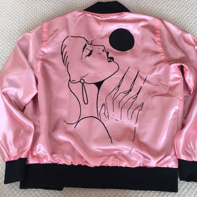 Pink Ball And Chain Johnny Gloom Limited Edition Bomber Jacket In Small