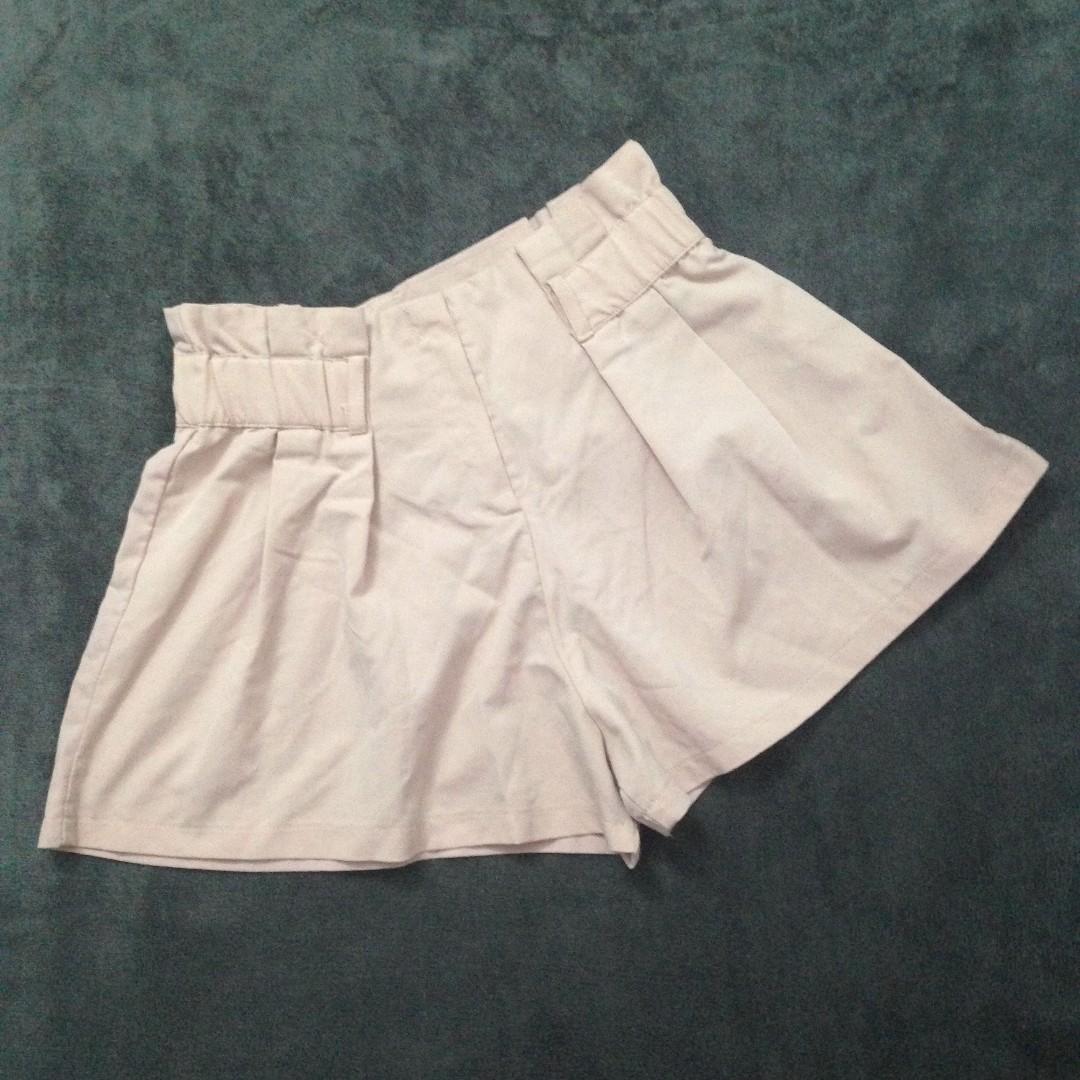 Pink high-waist skort