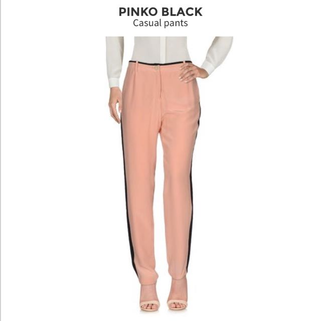 Pink Silk Trousers - PINKO Black