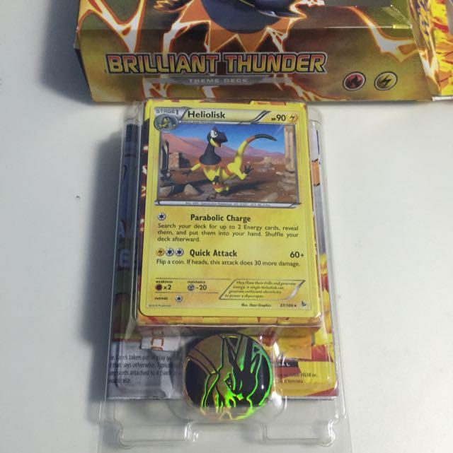 Pokemon XY Flashfire Brilliant Thunder Theme Deck