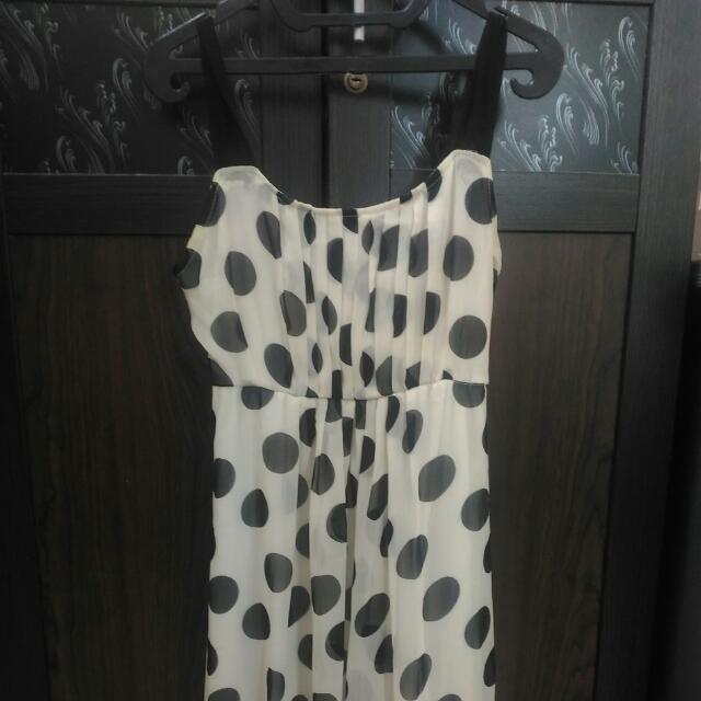 Polkadot Midi Dress