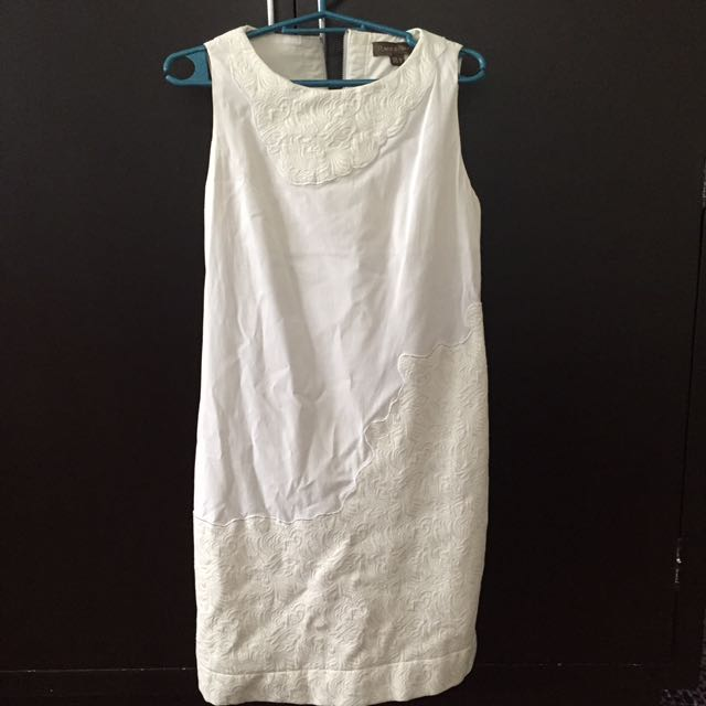 Pre-loved Plains & Prints White Dress