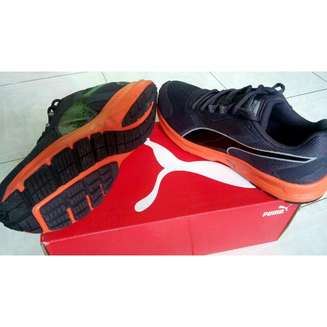 PUMA Descendant V3 (Grey-Orange) Original Size 42