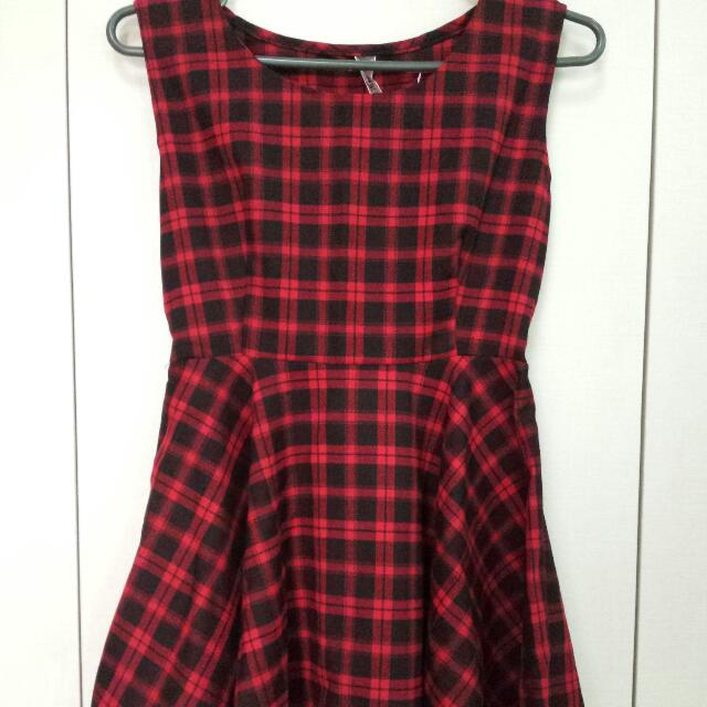 Repriced! Red Plaid Dress