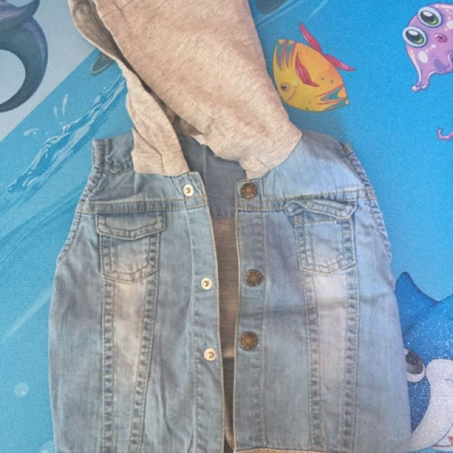 Rompi Jeans Untuk Anak 6-12months