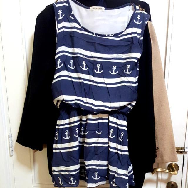 Sailor Mini Dress Sleeveless