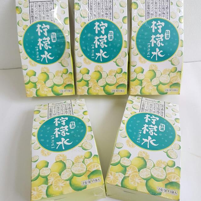 【全新過期品~免費送,運費自付】Simply特濃沖泡式 檸檬水 (共5盒)~2017.10.23到期