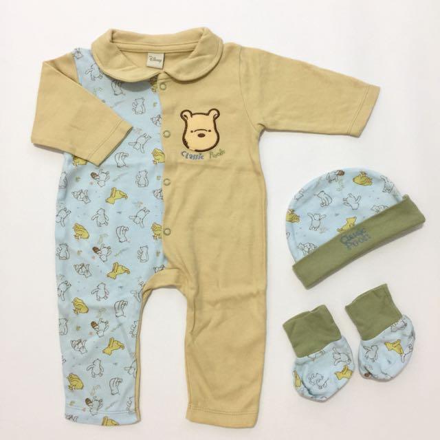 Sleepsuit Set Classic Pooh 0-3m