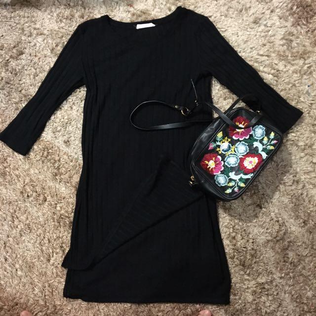 Stradivarius Shirt Dress With Side Slit