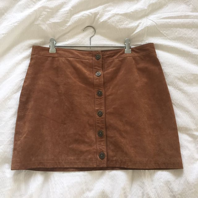 suede skirt, size 12-14