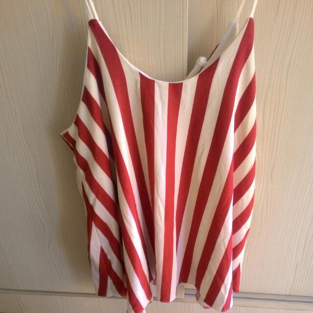 Tank Top Red & White
