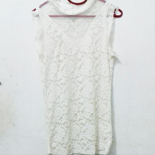 Broken White Lace Top