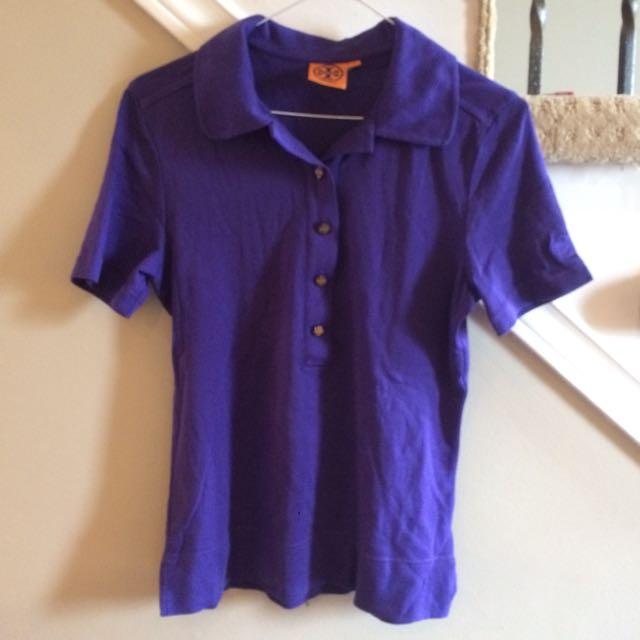 TORY BURCH Purple Polo Shirt