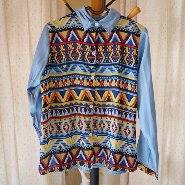 Tribal Blue Shirt