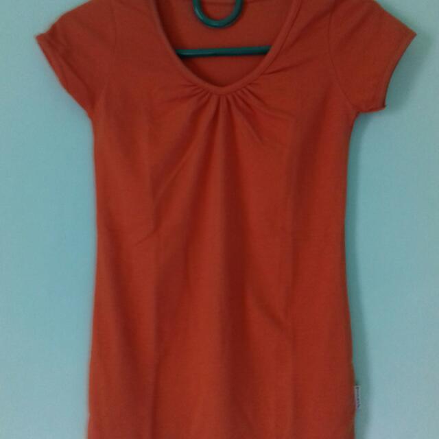 Tshirt Wanita Warna Orange