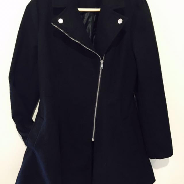 ValleyGirl Black Coat Size 10