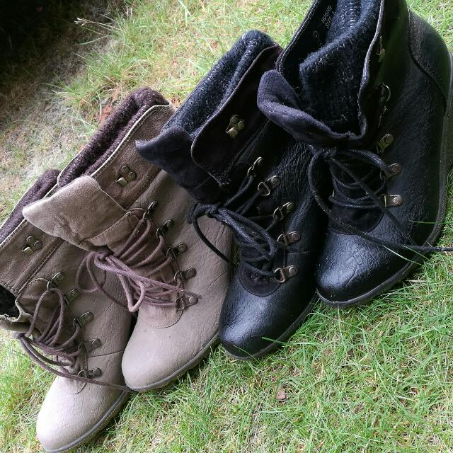 Wedge Boots For Sale