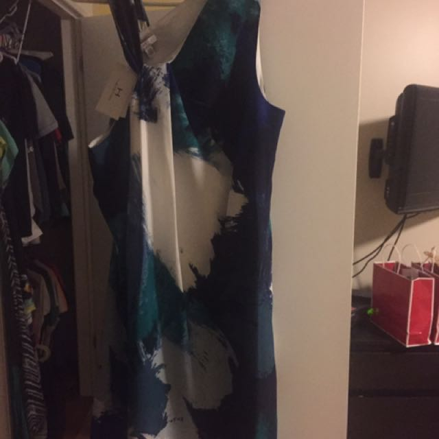 White/green Dress Never Worn