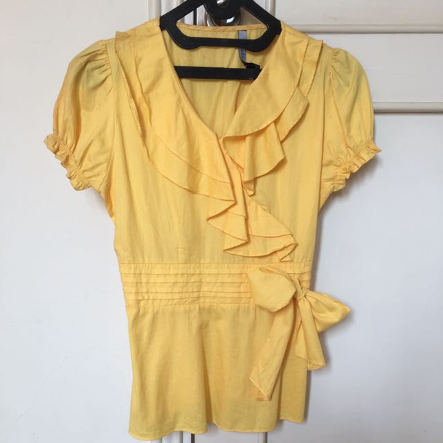 Yellow Ribbon blouse