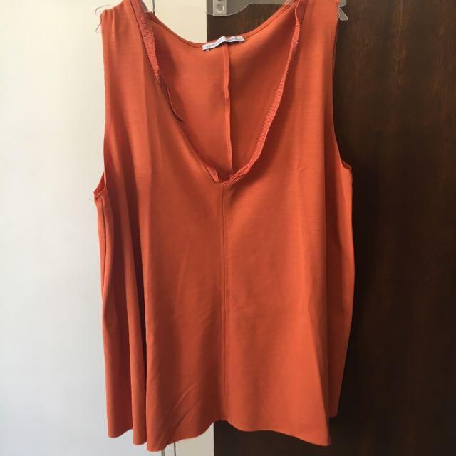 Zara Copper Sleeveless Top