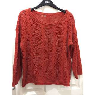 Rust Knitted Sweater