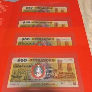 1990 Singapore Commemorative $50 [[ Singapore First Polymer Banknote ]]