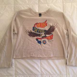 Cropped Obey Sweater (size Large)