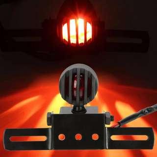 Universal Motorcycle Black Metal Bullet Brake Rear Tail Light Number Plate bracket
