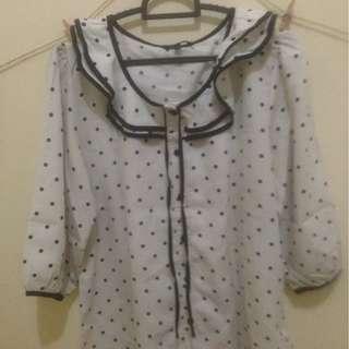 Korean Polkadot Shirt