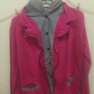 Korean Pink Fanta Jacket