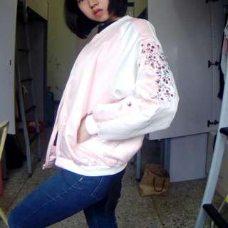 梅花鹿飛行刺繡外套