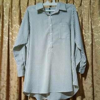 T-Shirt Wanita Garis-garis