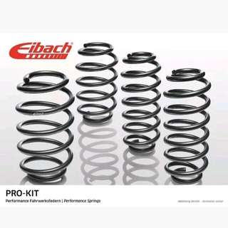 Eibach Pro Kit Lowering Springs to suit the following models:- VW Scirocco Mk3 1.4 TSi, 2.0 TSi, 2.0 TDI Years of manufacture: 09/08 >