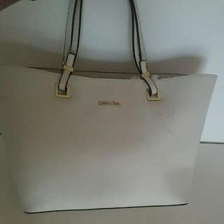 white Calvin klein purse